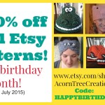 Birthday Pattern Sale on Etsy