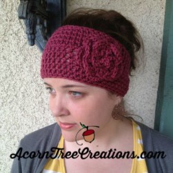 Christy Large Flower Headwarmer Crochet Pattern