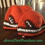 Crochet Football Hat Customize for Any Team
