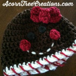 Crochet gingerbread hat pattern