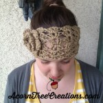 Crochet Headwarmer Pattern Melanie Lacy Open with Flower