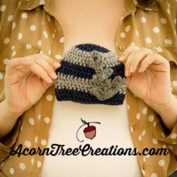 Little Sailor Anchor Hat Crochet Pattern