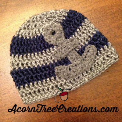 Little Sailor Anchor Hat Crochet Pattern (Preemie through Adult Size ...