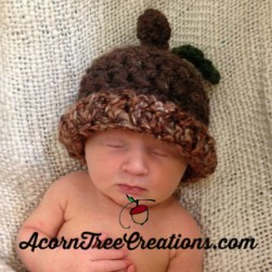 Crochet Sweet Acorn Hat Pattern