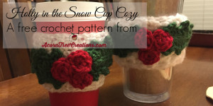 Holly in the Snow Cup Cozy